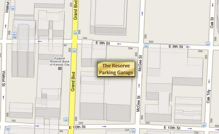 Map Of The Kansas City Reserve Parking Garage
